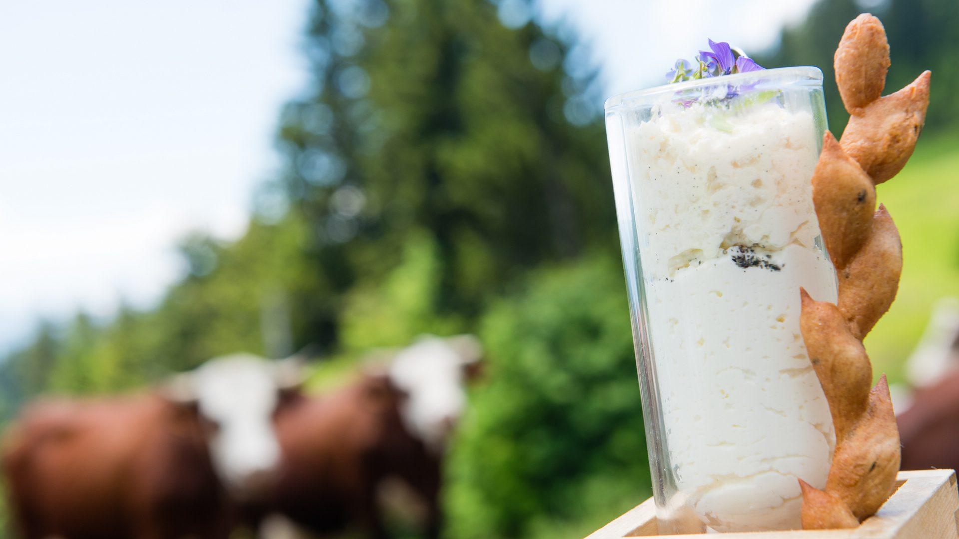 Le Fromage Blanc, espuma Miso Vanille, Fleur de sel au poivre de Gomasio
